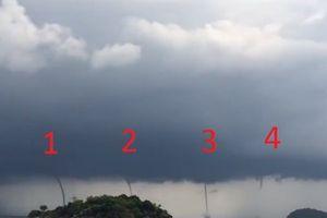 4 vòi rồng xuất hiện cùng lúc ngoài khơi biển Thái Lan