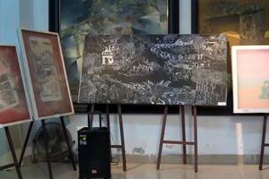 Sáng tác tranh lụa, tranh đồ họa về lực lượng vũ trang, chiến tranh cách mạng