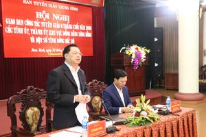 Giao ban công tác tuyên giáo 6 tháng cuối năm 2018 các tỉnh, thành ủy khu vực đồng bằng sông Hồng và một số tỉnh Đông Bắc bộ