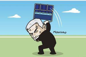 Biếm họa 24h: HLV Mourinho 'phát điên' sau bàn thắng của Fellaini