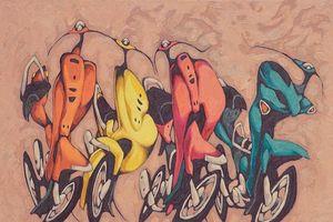 Đóng Facebook, dừng giao lưu để vẽ xe máy tán tỉnh nhau