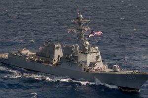 Mỹ đưa tàu chiến qua eo biển Đài Loan