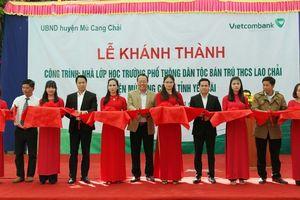 Vietcombank xây trường dân tộc bán trú tại Mù Cang Chải