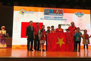Học sinh tiểu học Cần Thơ đoạt giải cao Cuộc thi lập trình quốc tế Wecode 2018