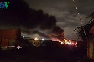 Cháy lớn tại Khu Công nghiệp Hòa Cầm, TP Đà Nẵng