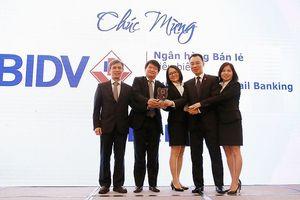 BIDV năm thứ 3 đạt giải thưởng 'Ngân hàng Bán lẻ tiêu biểu'