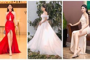 Váy cưới thì kín đáo thế thôi, bình thường á hậu Thanh Tú cực kỳ thích váy xẻ đùi cao tít tắp khoe đôi chân 'cực phẩm'