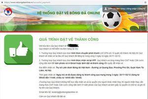 Đã hết vé bán qua mạng trận bán kết AFF Cup giữa Việt Nam - Philippines