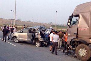 Ngày 30/11, xử giám đốc thẩm xe container đâm Innova lùi trên cao tốc