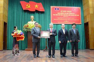Tỉnh Thừa Thiên Huế đón nhận Huân chương Lao động hạng Nhất của nước CHDCND Lào