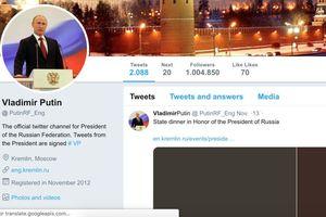 Twitter chặn tài khoản Tổng thống Putin 'giả' có hơn 1 triệu lượt theo dõi