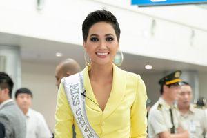 H'Hen Niê mang 12 vali, gần 80 bộ trang phục dự thi 'Hoa hậu Hoàn vũ 2018'