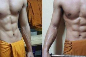 Truy tìm nhà sư 6 múi 'sốt xình xịch' mạng xã hội Thái Lan