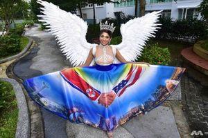 Người đẹp Singapore đem trang phục 'thượng đỉnh Mỹ-Triều' đến HH Hoàn vũ 2018