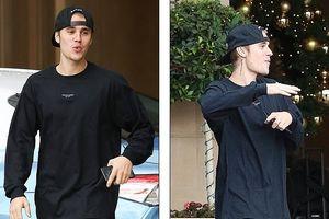 Justin Bieber đẹp trai, vui vẻ huýt sáo ngoài phố sau khi cưới vợ