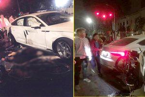 Hai xe máy phóng như bay tông trúng ô tô Audi, 4 người thương vong ở Hà Nội