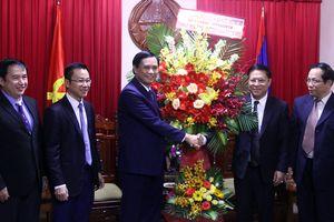Lãnh đạo thành phố chúc mừng 43 năm Quốc khánh Lào