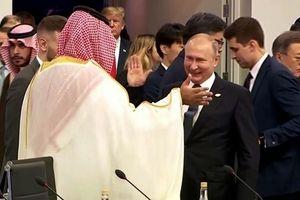 Putin tươi cười đập tay với Thái tử Arab Saudi tại G20