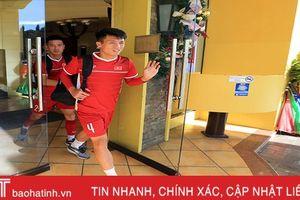 Lực lượng an ninh mang súng bảo vệ khách sạn ĐT Việt Nam