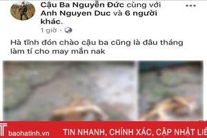 Thêm 1 thanh niên Hà Tĩnh đăng ảnh 'khoe' giết khỉ trên Facebook