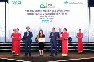 Bảo Việt lọt Top 10 doanh nghiệp bền vững 3 năm liên tiếp