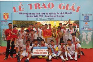 Các danh hiệu được trao ở mùa giải bóng đá học sinh 2018