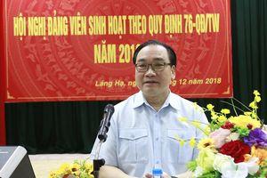 Bí thư Thành ủy Hoàng Trung Hải dự sinh hoạt Đảng ở địa bàn dân cư
