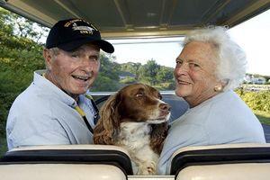 Khoảnh khắc hạnh phúc của vợ chồng cố Tổng thống Bush 'cha'