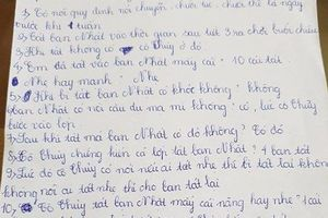Phát phiếu 'điều tra' vụ phạt 231 cái tát, nhà trường đang tìm cách thanh minh cho cô giáo