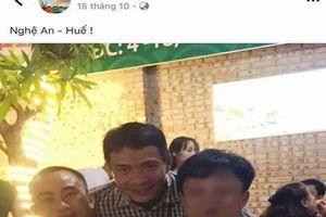 Tạm đình chỉ công tác Thiếu tá đăng ảnh ăn nhậu với đương sự trên facebook