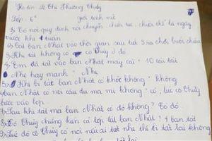 Vụ học sinh bị tát 231 cái: Cả lớp viết 'lời khai'?