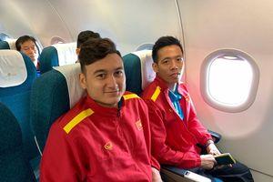 Những hình ảnh các cầu thủ Việt Nam rời Bacolod về Hà Nội