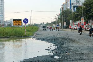 Cần sớm nâng cấp đường Nam Sông Hậu đang xuống cấp