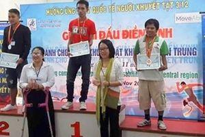 Đoàn vận động viên người khuyết tật Quảng Trị giành giải nhất toàn đoàn