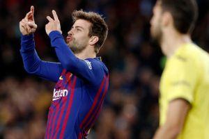 Toàn cảnh Barca 2-0 Villarreal: Không Messi đã có Pique