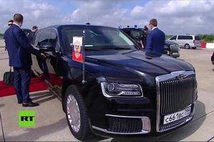 Tổng thống Nga Putin 'khoe' siêu limousine Aurus tại G20