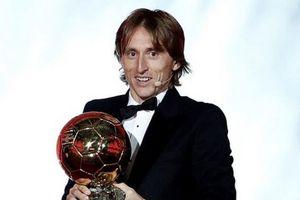 Luka Modric đoạt danh hiệu Quả bóng Vàng 2018