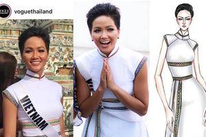 Tiết lộ bí mật về chiếc áo dài thổ cẩm Ê Đê của H'Hen Niê được Vogue khen ngợi