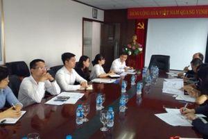 Đoàn thẩm định giải thưởng Sao vàng Đất Việt làm việc tại Ngân hàng BIDV