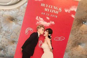 Thiệp cưới hài hước như tấm vé mời ra mắt vlog của Huy Cung