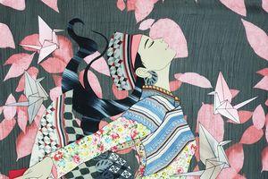 Nữ họa sĩ dệt giấc mơ từ... vải