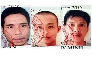 Truy nã 3 phạm nhân trốn khỏi trại giam Công an tỉnh Kiên Giang