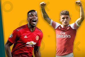Lịch phát sóng bóng đá giữa tuần: Kịch tính trận M.U vs Arsenal