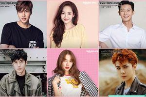BXH sao được fan quốc tế yêu mến tháng 11: Park Min Young - Yoon Eun Hye tăng hạng, Lee Jong Suk - Park Shin Hye về nhất