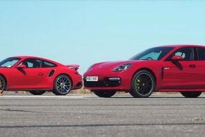Video Porsche Panamera Turbo S E-Hybrid và 911 Turbo S 'đọ sức mạnh'
