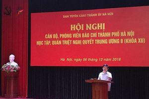 Cán bộ phóng viên báo chí Hà Nội học tập Nghị quyết Trung ương 8