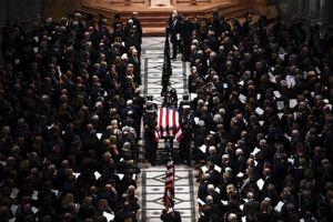 Những hình trang nghiêm, xúc động trong tang lễ cố Tổng thống Mỹ George H.W. Bush
