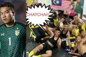 Vào chung kết, tuyển Malaysia ăn mừng kiểu 'giấc ngủ bình yên'