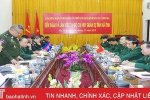Đoàn cán bộ nghiên cứu chiến lược Quân đội Hoàng gia Campuchia làm việc tại Hà Tĩnh