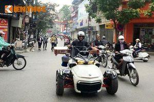 Môtô 3 bánh tiền tỷ Can-am làm xe ba gác tại Nam Định